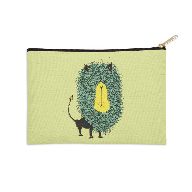 Afro Lion Accessories Zip Pouch by The Babybirds