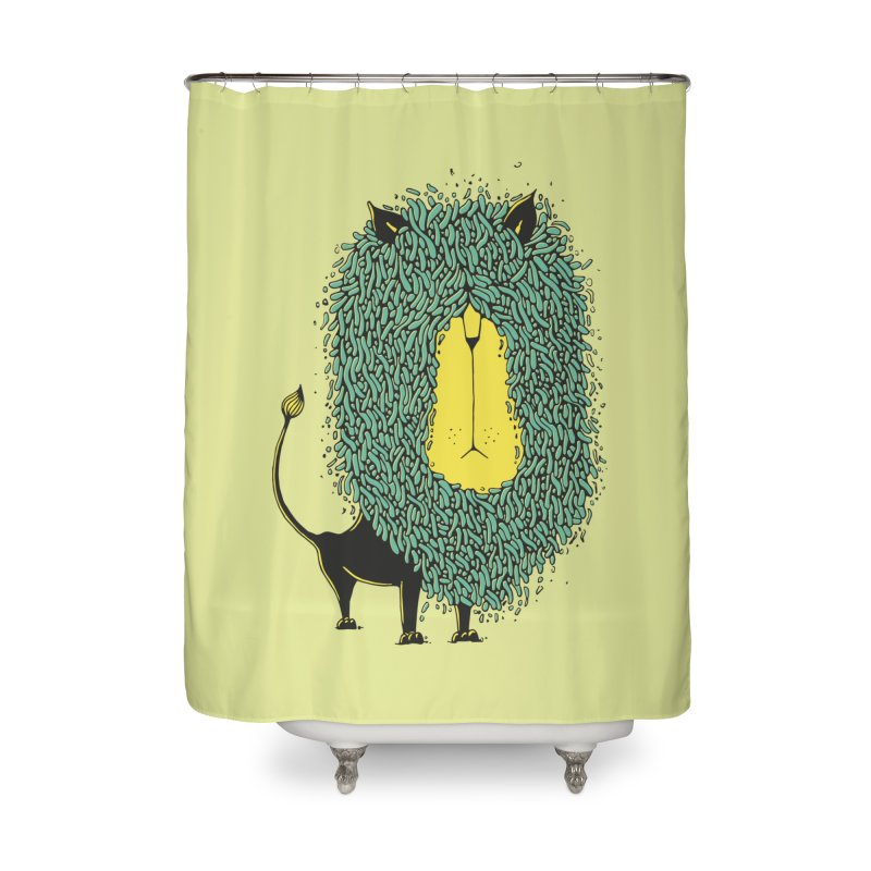 Afro Lion Home Shower Curtain by The Babybirds