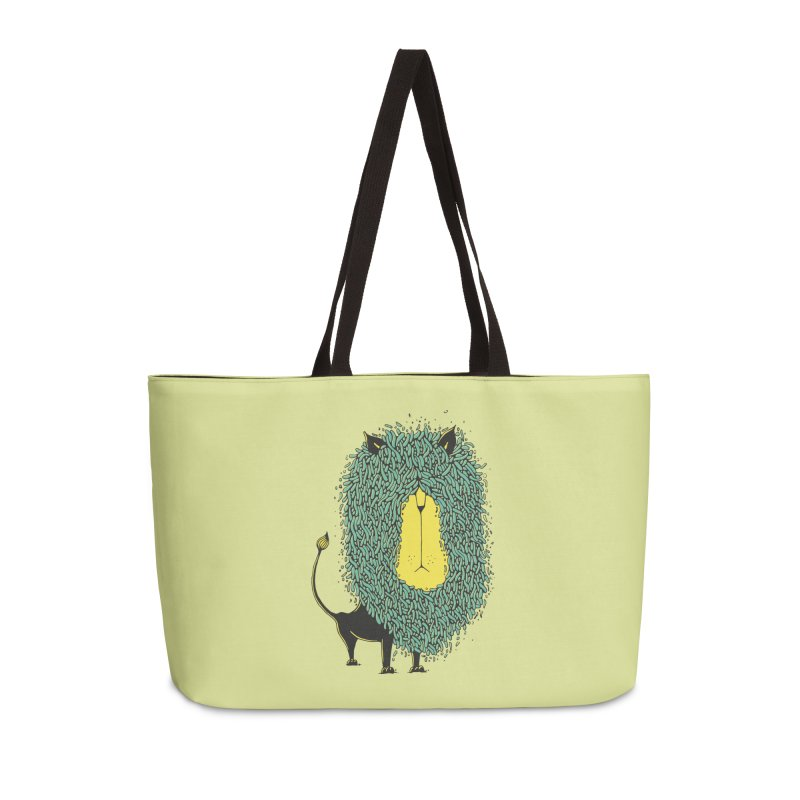 Afro Lion Accessories Weekender Bag Bag by The Babybirds
