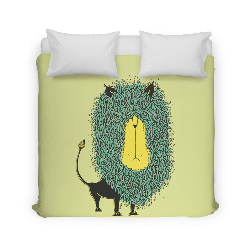 Afro Lion Home Duvet by The Babybirds