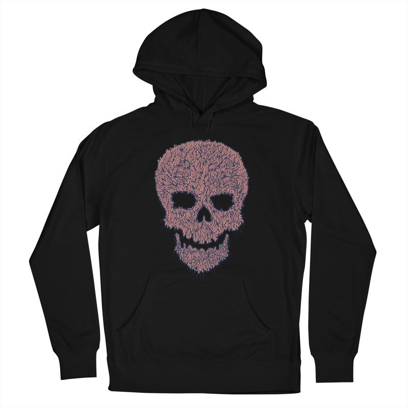 Organic Skull Women's French Terry Pullover Hoody by The Babybirds