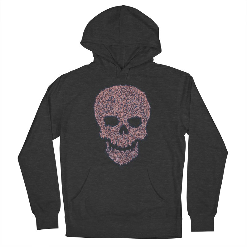 Organic Skull Men's French Terry Pullover Hoody by The Babybirds