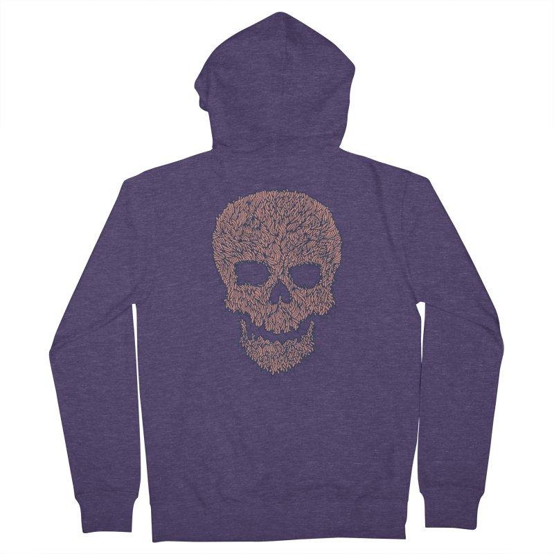 Organic Skull Men's Zip-Up Hoody by The Babybirds