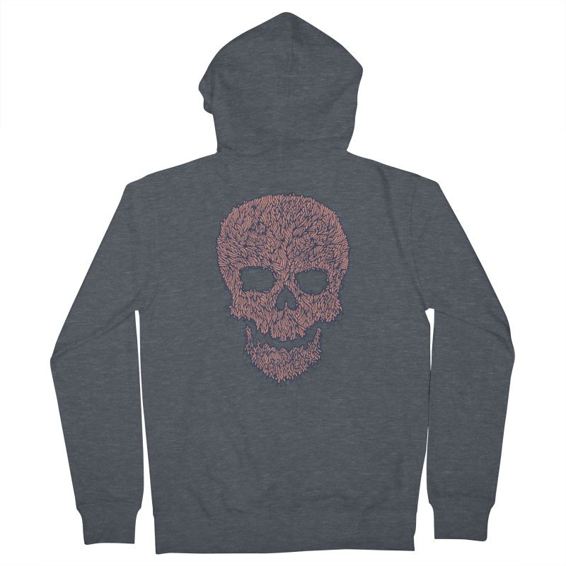 Organic Skull Men's French Terry Zip-Up Hoody by The Babybirds