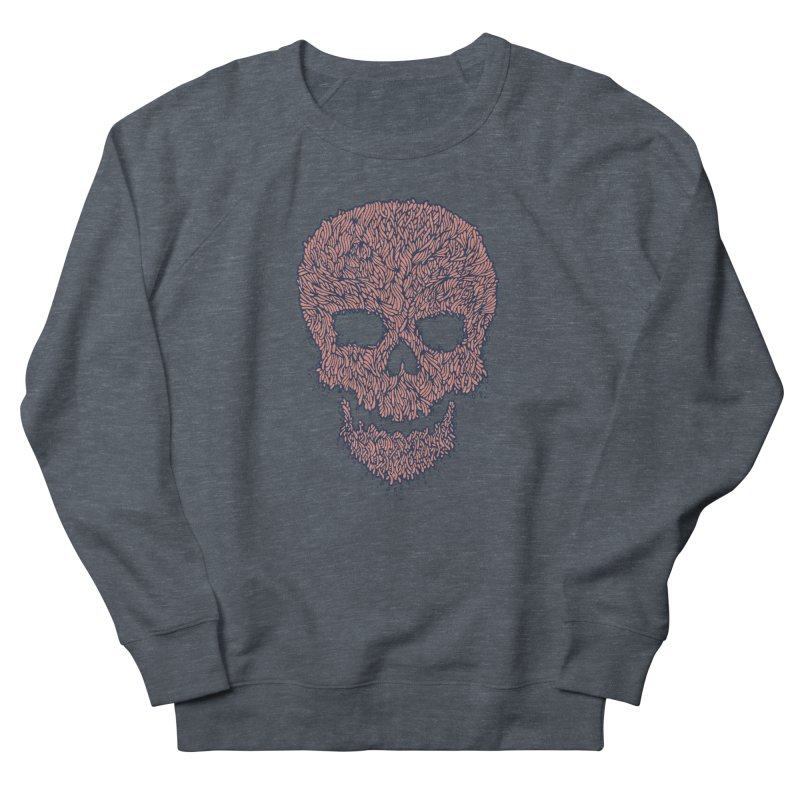 Organic Skull Men's French Terry Sweatshirt by The Babybirds
