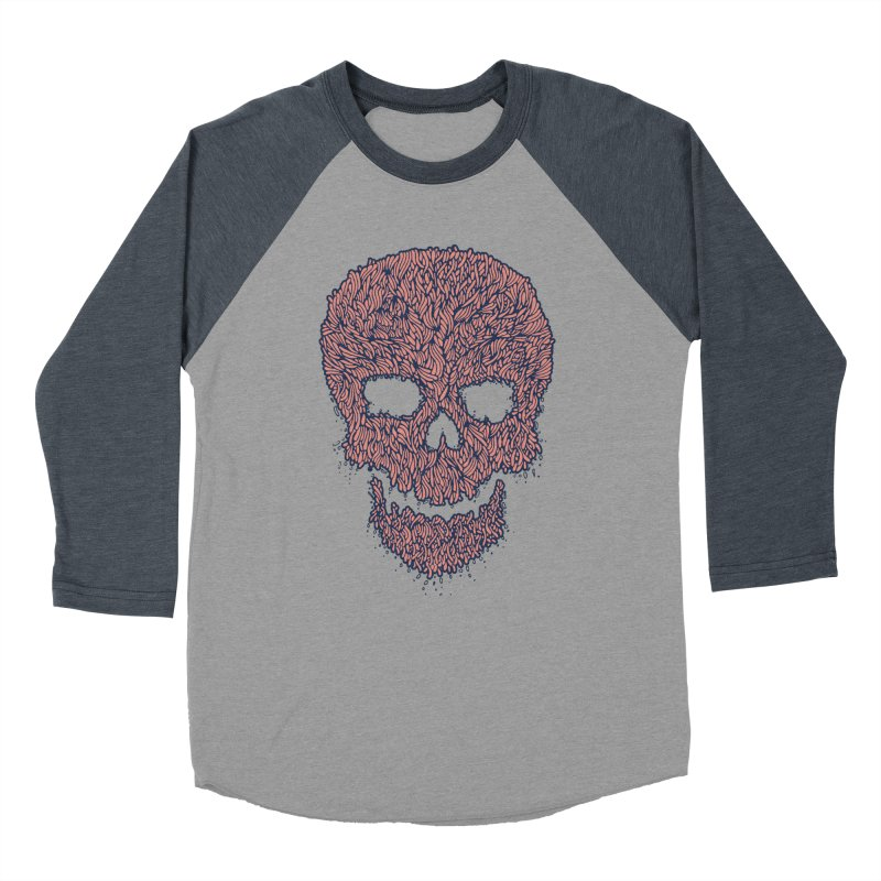 Organic Skull Women's Baseball Triblend Longsleeve T-Shirt by The Babybirds