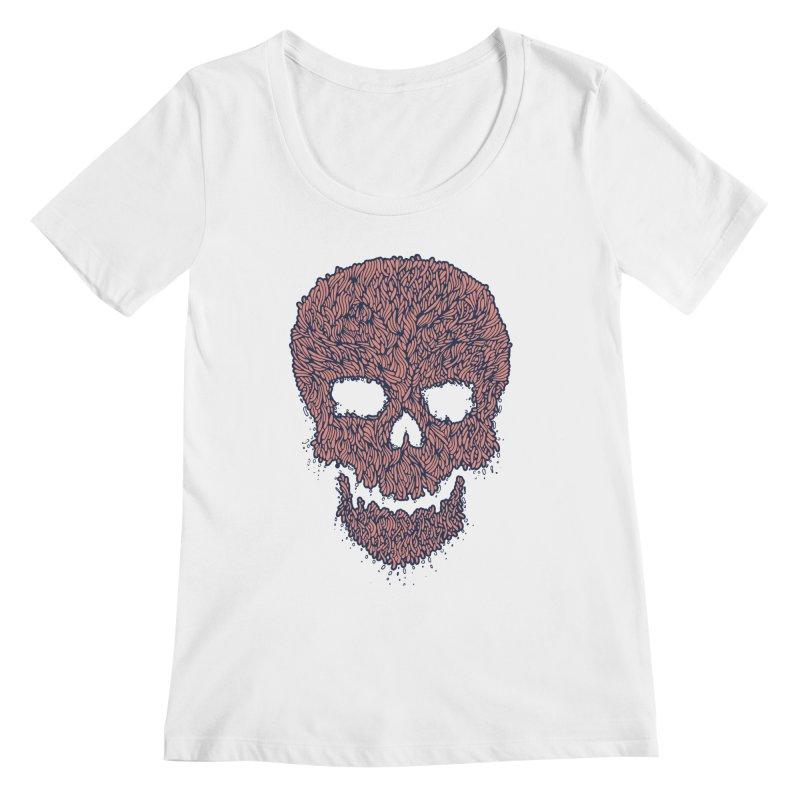 Organic Skull Women's Regular Scoop Neck by The Babybirds