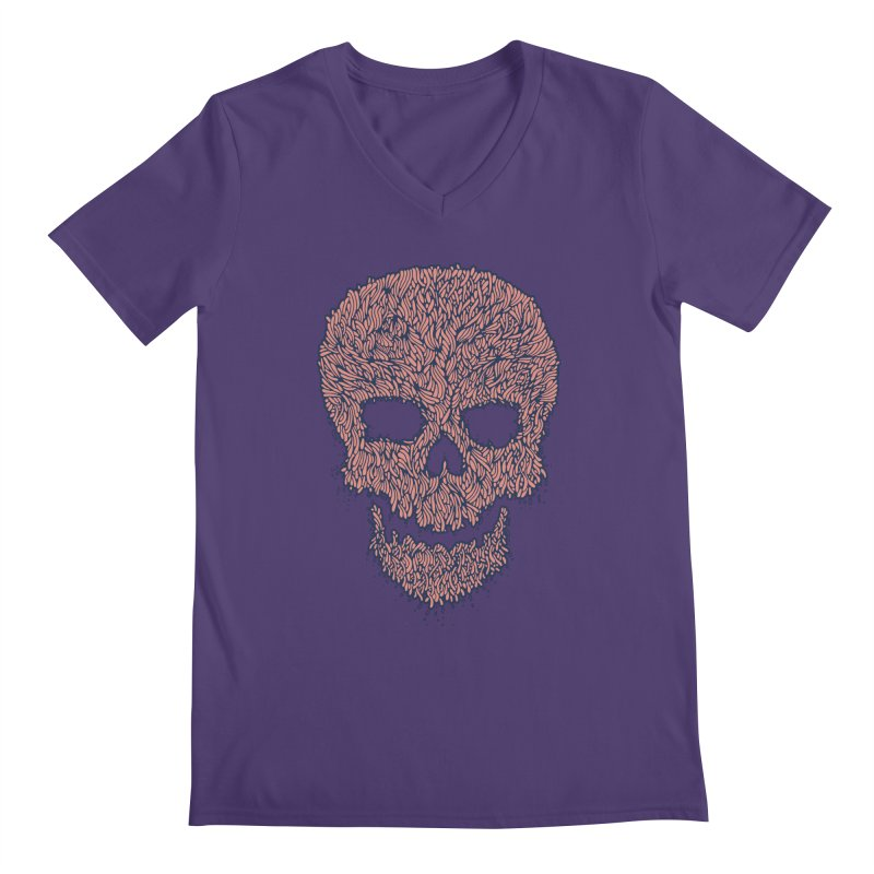 Organic Skull Men's V-Neck by The Babybirds
