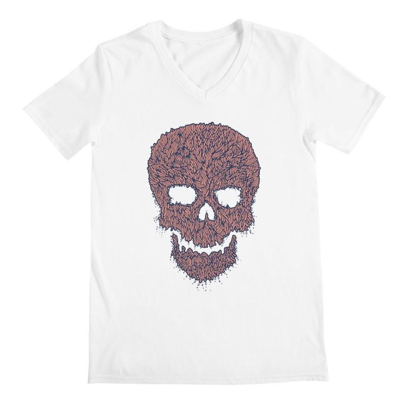 Organic Skull Men's Regular V-Neck by The Babybirds