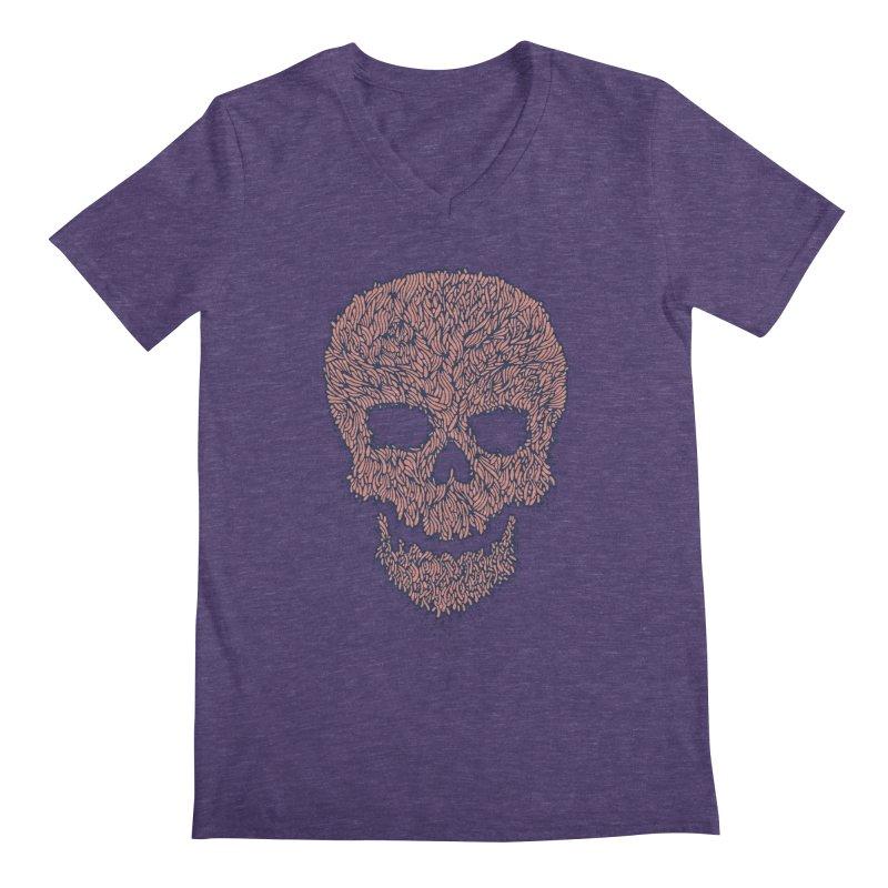 Organic Skull Men's V-Neck by The Babybirds