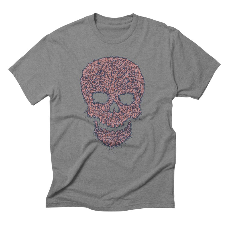 Organic Skull Men's Triblend T-shirt by The Babybirds