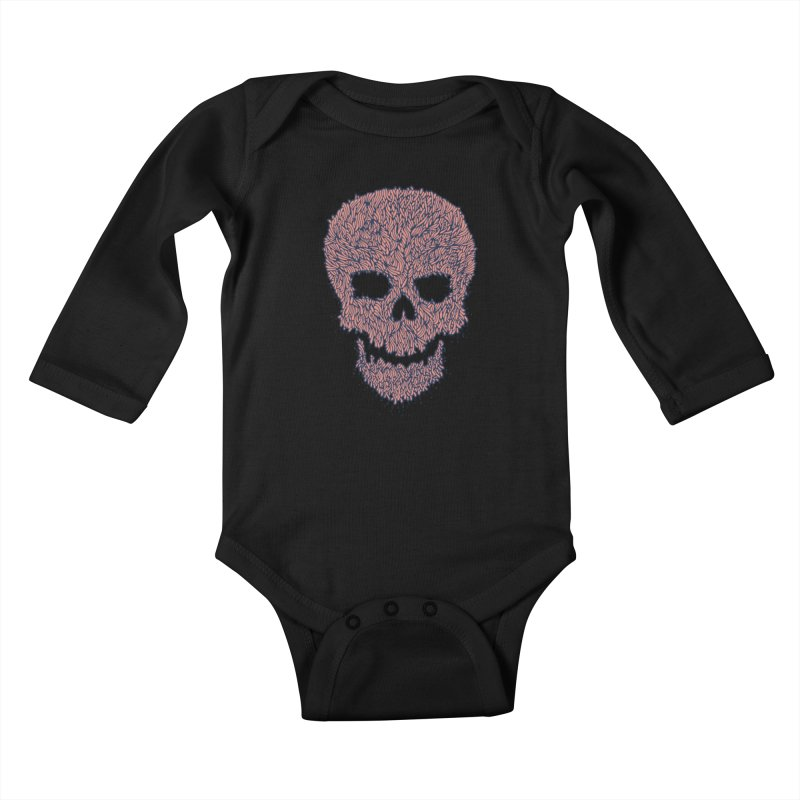 Organic Skull Kids Baby Longsleeve Bodysuit by The Babybirds