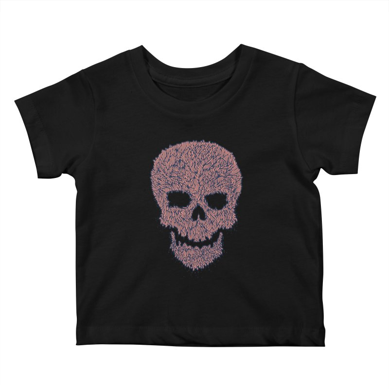 Organic Skull Kids Baby T-Shirt by The Babybirds