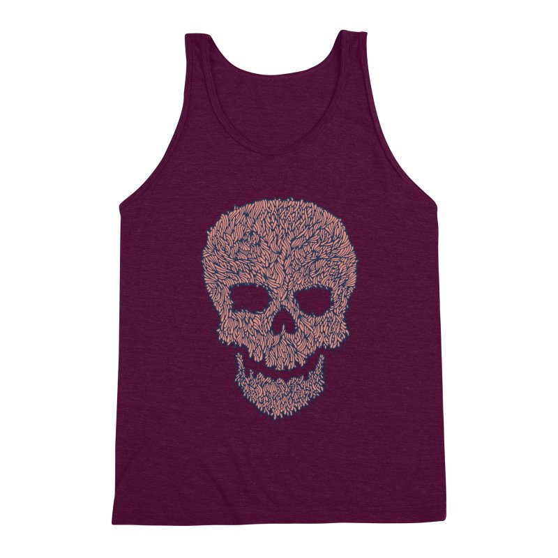 Organic Skull Men's Triblend Tank by The Babybirds