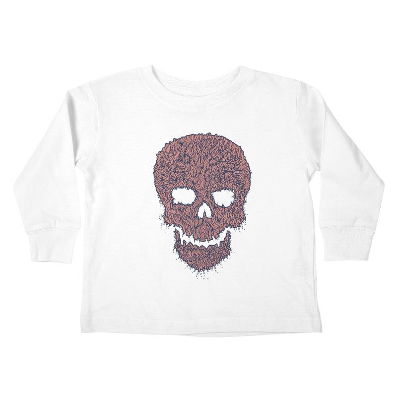 Organic Skull Kids Toddler Longsleeve T-Shirt by The Babybirds