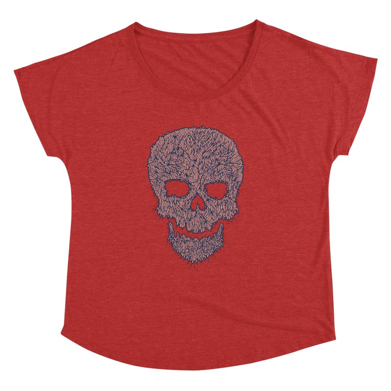 Organic Skull Women's Dolman Scoop Neck by The Babybirds