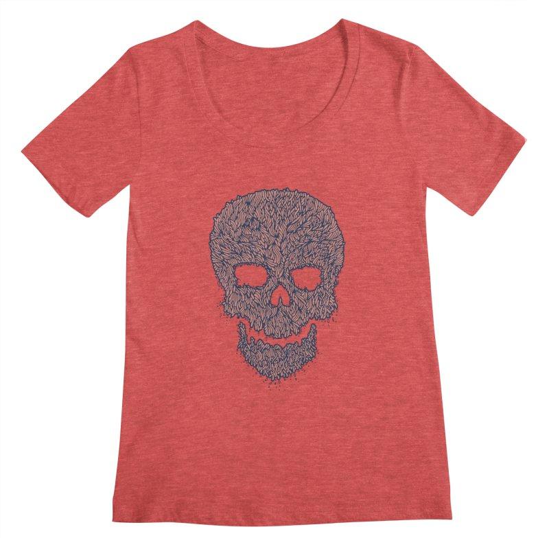 Organic Skull Women's Scoopneck by The Babybirds