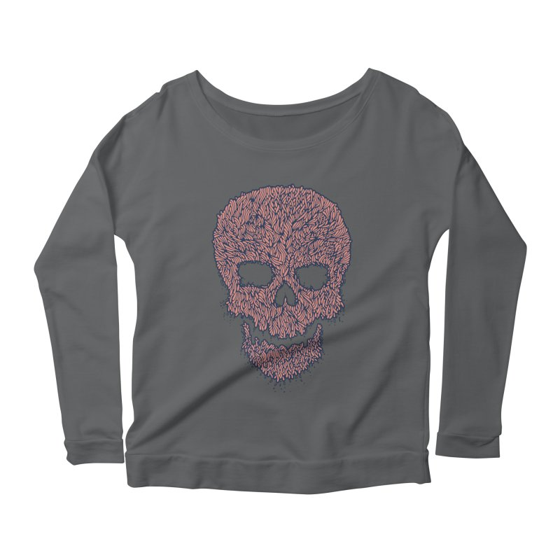 Organic Skull Women's Scoop Neck Longsleeve T-Shirt by The Babybirds