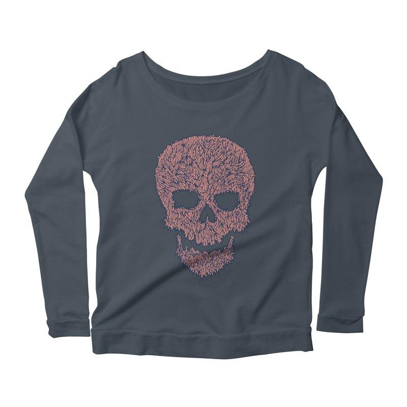 Organic Skull Women's Longsleeve Scoopneck  by The Babybirds
