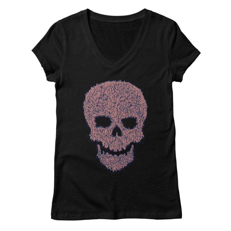 Organic Skull Women's V-Neck by The Babybirds