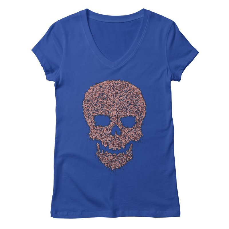 Organic Skull Women's V-Neck by The Babybirds