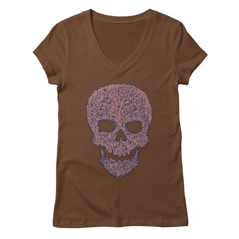 Organic Skull Women's Regular V-Neck by The Babybirds