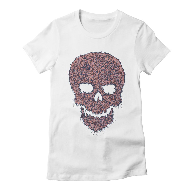 Organic Skull Women's Fitted T-Shirt by The Babybirds