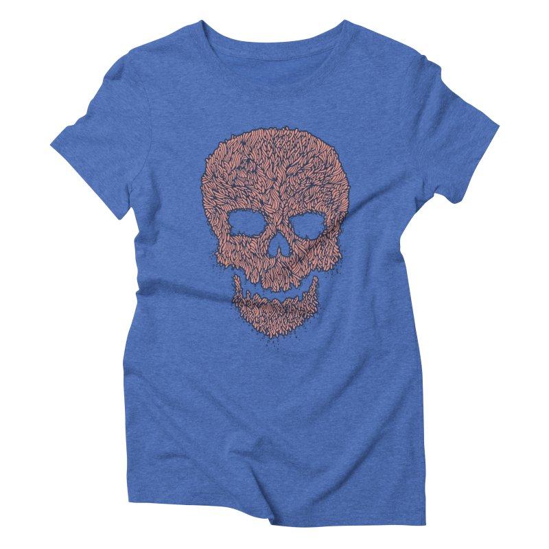 Organic Skull Women's Triblend T-Shirt by The Babybirds