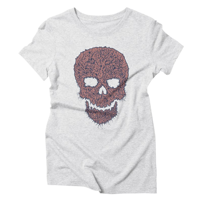 Organic Skull Women's Triblend T-Shirt by The Babybirds