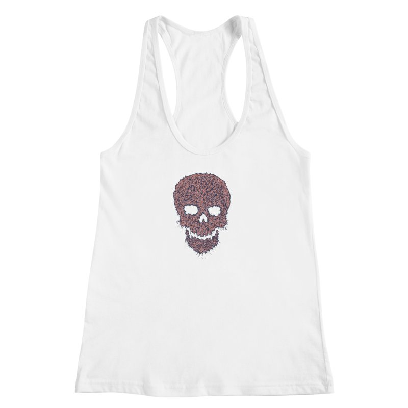 Organic Skull Women's Racerback Tank by The Babybirds