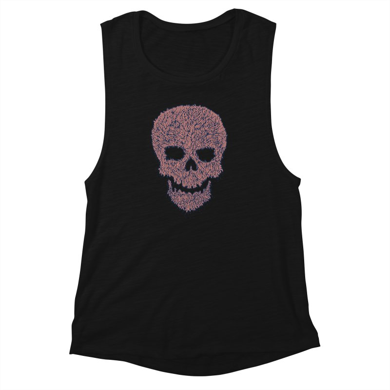 Organic Skull Women's Muscle Tank by The Babybirds