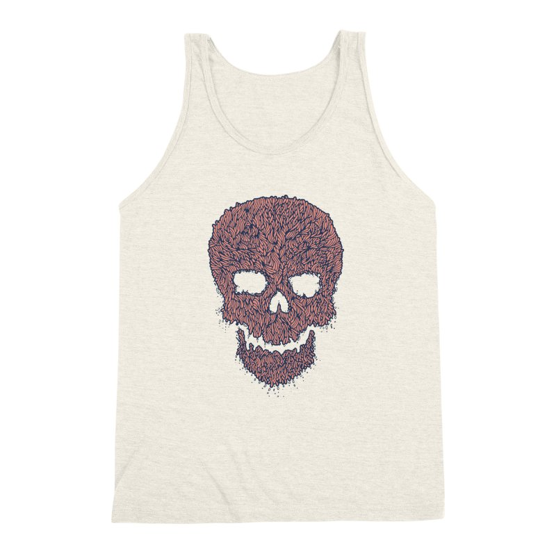 Organic Skull Men's Triblend Tank by The Babybirds