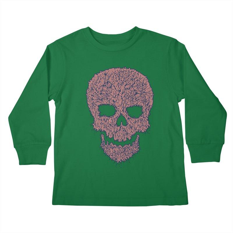 Organic Skull Kids Longsleeve T-Shirt by The Babybirds