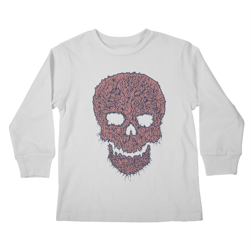 Organic Skull Kids Longsleeve T-Shirt by The Babybirds