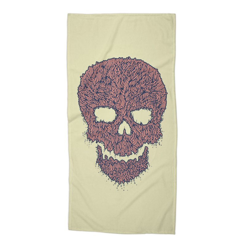 Organic Skull Accessories Beach Towel by The Babybirds