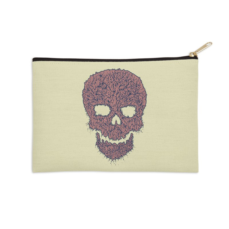 Organic Skull Accessories Zip Pouch by The Babybirds
