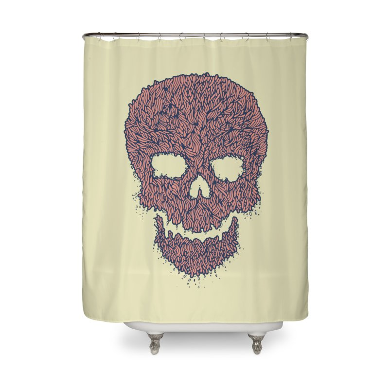 Organic Skull Home Shower Curtain by The Babybirds