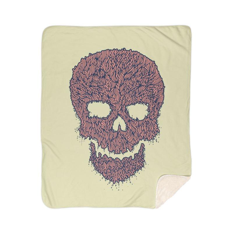 Organic Skull Home Sherpa Blanket Blanket by The Babybirds