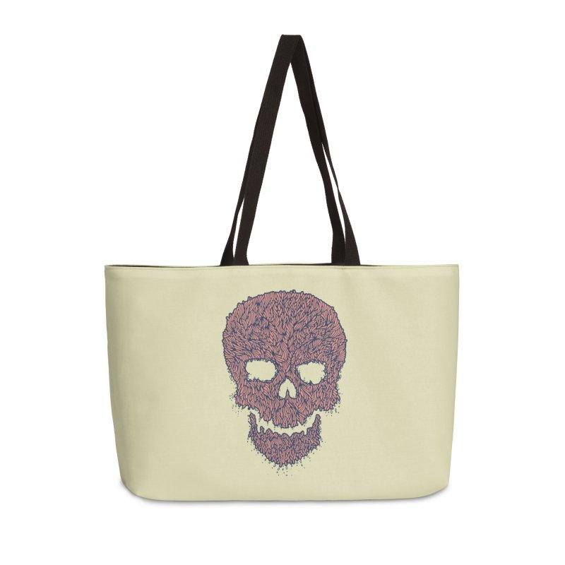 Organic Skull Accessories Weekender Bag Bag by The Babybirds