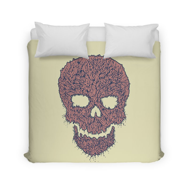 Organic Skull Home Duvet by The Babybirds