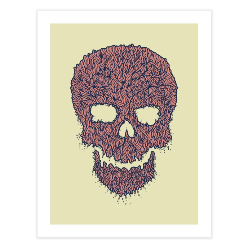 Organic Skull Home Fine Art Print by The Babybirds