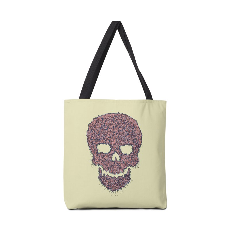 Organic Skull Accessories Tote Bag Bag by The Babybirds