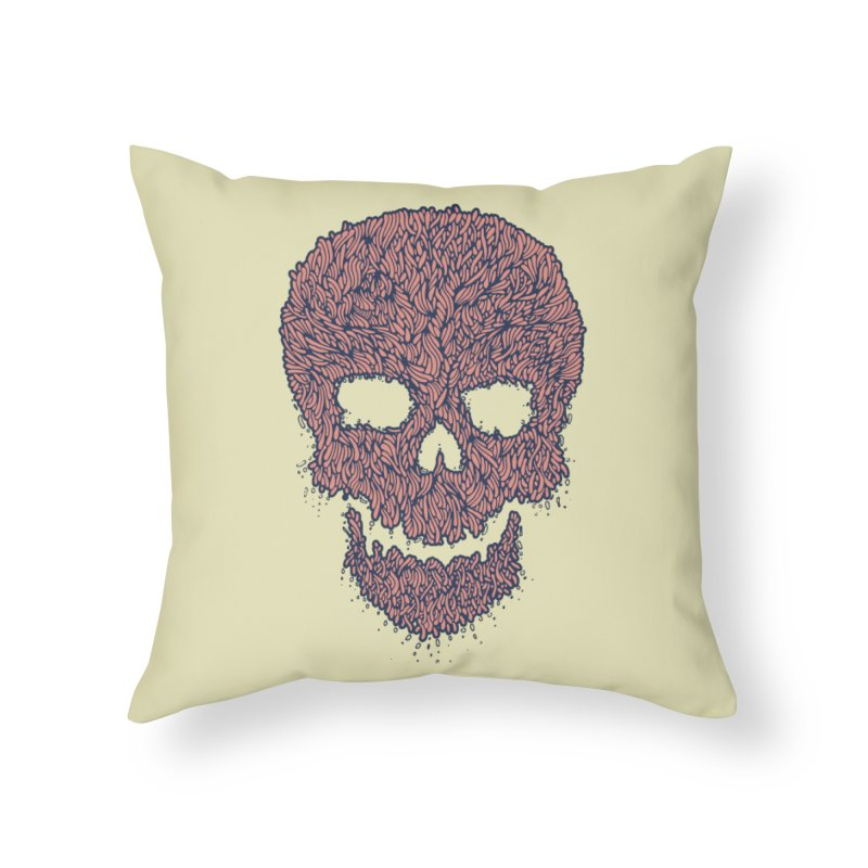 Organic Skull Home Throw Pillow by The Babybirds