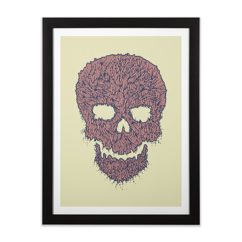 Organic Skull Home Framed Fine Art Print by The Babybirds