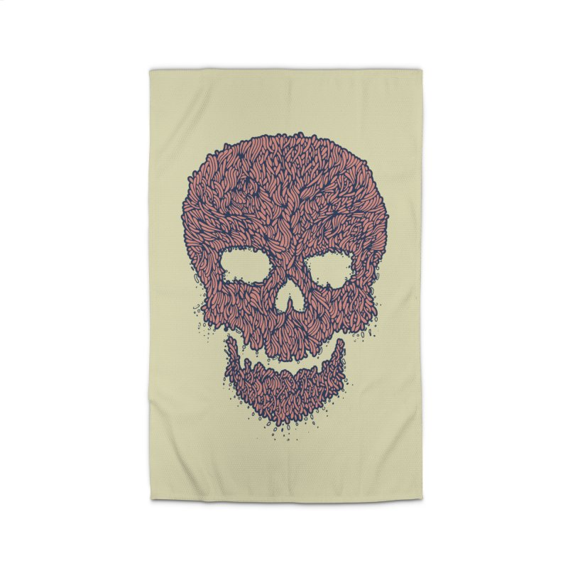 Organic Skull Home Rug by The Babybirds