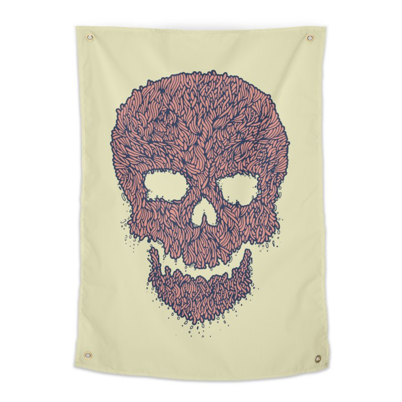 Organic Skull Home Tapestry by The Babybirds