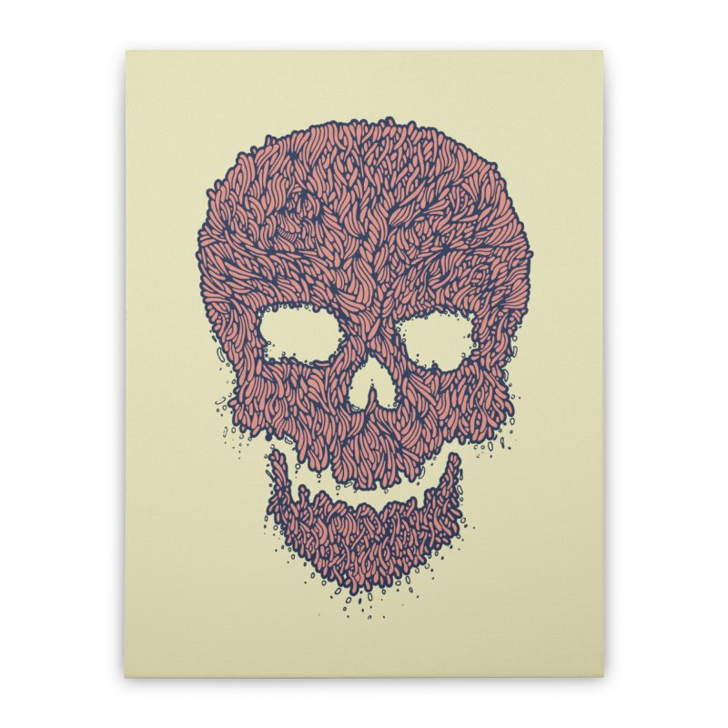 Organic Skull Home Stretched Canvas by The Babybirds