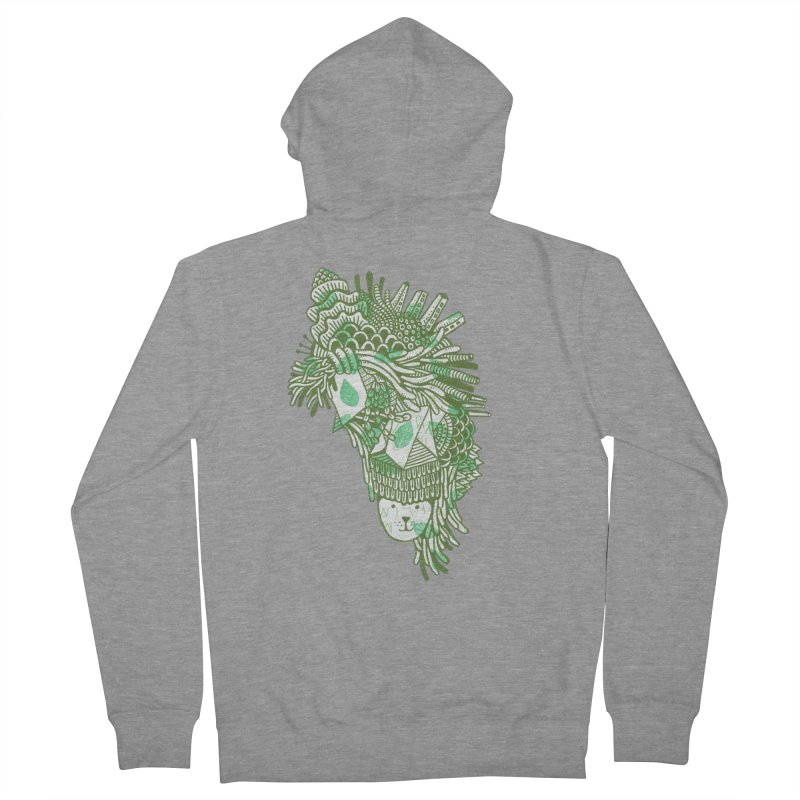 Vegetation Women's French Terry Zip-Up Hoody by The Babybirds