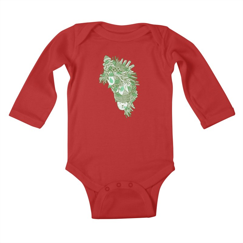 Vegetation Kids Baby Longsleeve Bodysuit by The Babybirds