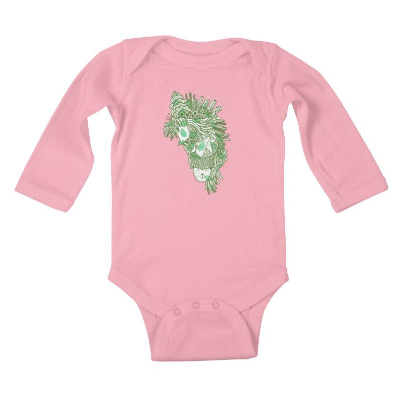 Vegetation Kids Baby Longsleeve Bodysuit by The Babybirds